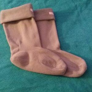 Hunter beige boot socks